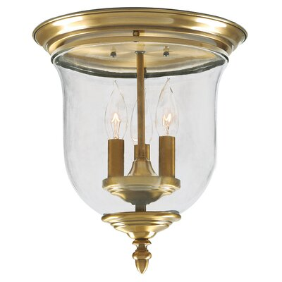 Sackler Flush Mount Finish: Antique Brass