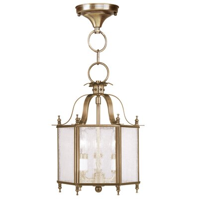 Sackler 3-Light Foyer Pendant Finish: Antique Brass