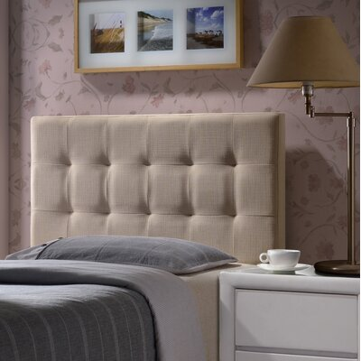Worthen Upholstered Panel Headboard Size: King