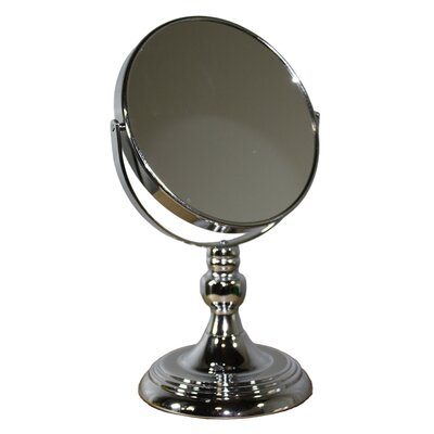 Round X Nickel Magnify Mirror