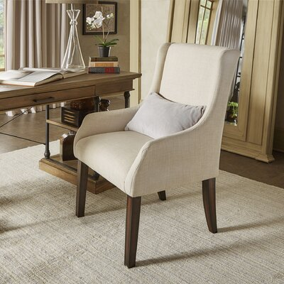 Tinley Linen Sloped Arm Chair Upholstery: Beige