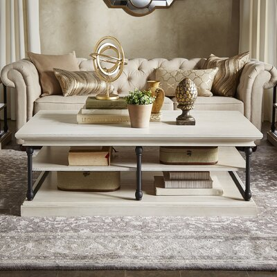 Gail Coffee Table Color: Antique White