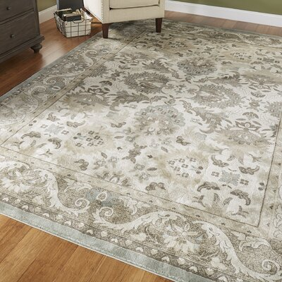 Germantown Beige/Ivory Area Rug Rug Size: 3'11 x 5'5