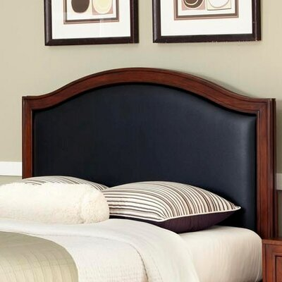 Myra Upholstered Panel Headboard Finish: Black