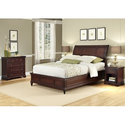 Curran Platform 3 Piece Wood Bedroom Set Size: Queen