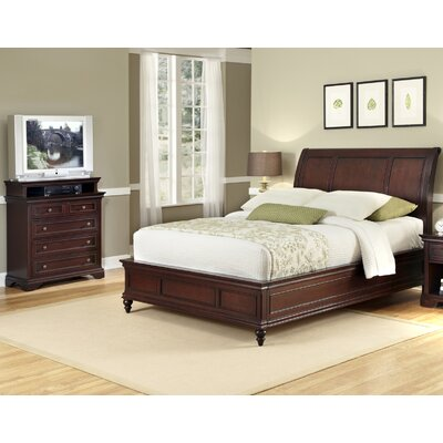 Curran Sleigh 2 Piece Bedroom Set Size: King