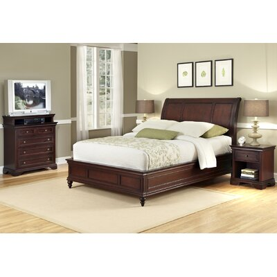 Curran Sleigh 3 Piece Bedroom Set Size: King