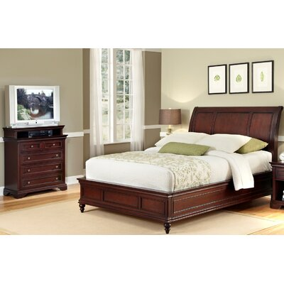 Curran Sleigh 2 Piece Wood Bedroom Set Size: King / California King