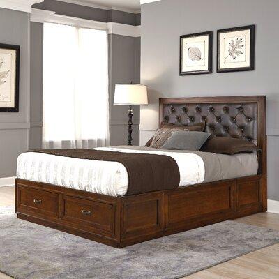 Myra Upholstered Storage Platform Bed Size: King, Color: Brown