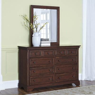 Linthicum 8 Drawer Dresser with Mirror