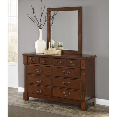 Cargile 8 Drawer Dresser with Mirror