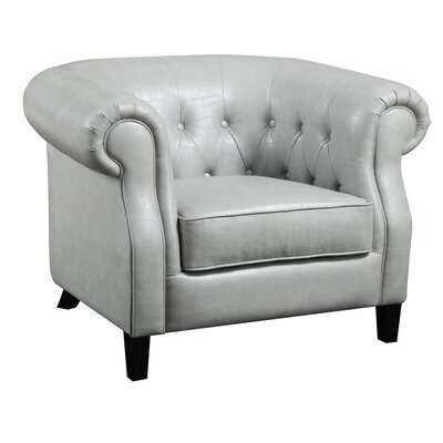 Nellie Chesterfield Club Chair Upholstery: Stone