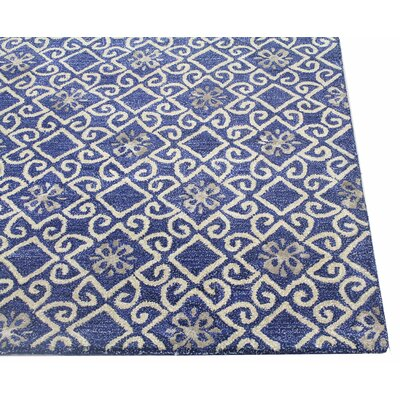 Danforth Hand-Tufted Navy Area Rug Rug Size: 79 x 99