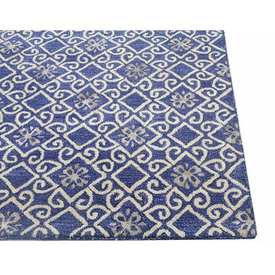 Danforth Hand-Tufted Navy Area Rug Rug Size: 86 x 116