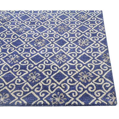 Danforth Hand-Tufted Navy Area Rug Rug Size: 39 x 59