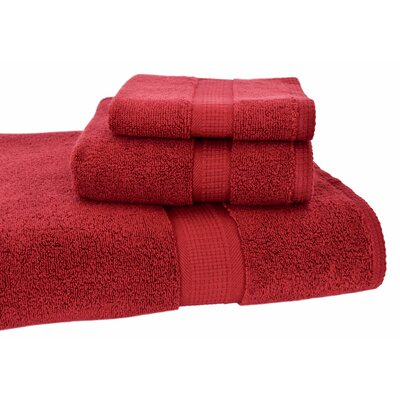 Bloomberg 3 Piece Bath Towel Set Color: Cranberry