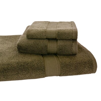Bloomberg 3 Piece Bath Towel Set Color: Moss Green