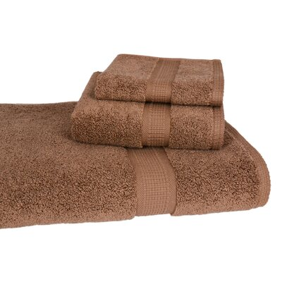 Bloomberg 3 Piece Bath Towel Set Color: Cocoa