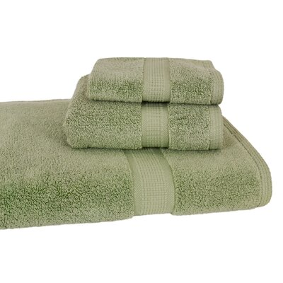 Bloomberg 3 Piece Bath Towel Set Color: Sage