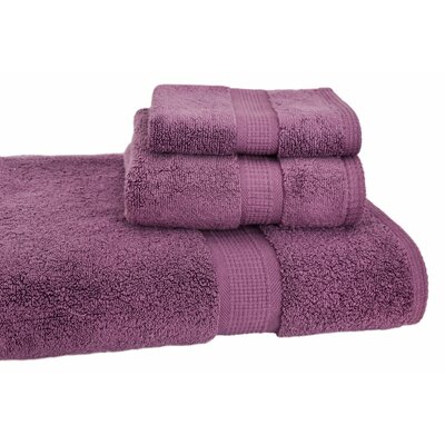Bloomberg 3 Piece Bath Towel Set Color: Amethyst