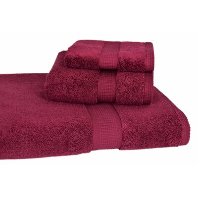 Bloomberg 3 Piece Bath Towel Set Color: Burgundy