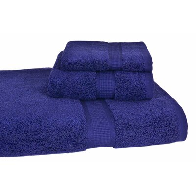 Bloomberg 3 Piece Bath Towel Set Color: Midnight Blue