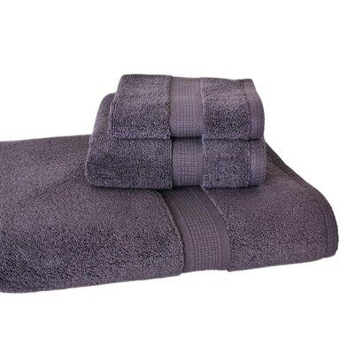 Bloomberg 3 Piece Bath Towel Set Color: Charcoal