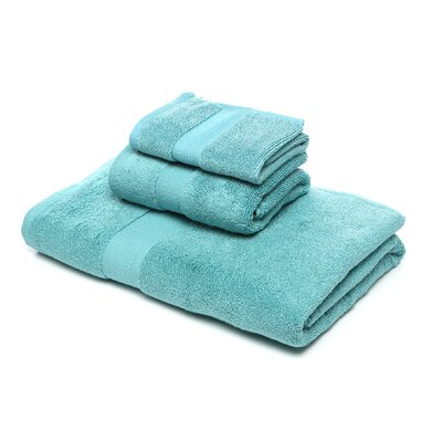 Bloomberg 3 Piece Bath Towel Set Color: Teal