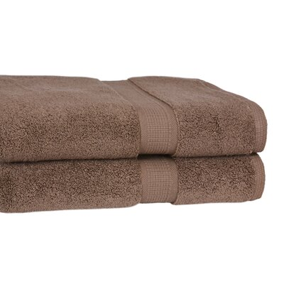 Bloomberg 100% Supima Zero-Twist Cotton Oversized Bath Sheet Color: Cocoa