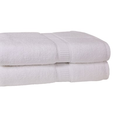 Bloomberg 100% Supima Zero-Twist Cotton Oversized Bath Sheet Color: White