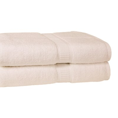 Bloomberg 100% Supima Zero-Twist Cotton Oversized Bath Sheet Color: Ivory