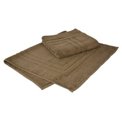 Bloomberg 100% Supima Zero-Twist Cotton Bath Mat Color: Cocoa