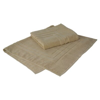 Bloomberg 100% Supima Zero-Twist Cotton Bath Mat Color: Sand