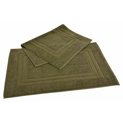 Bloomberg 100% Supima Zero-Twist Cotton Bath Mat Color: Sage