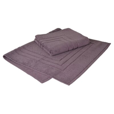Bloomberg 100% Supima Zero-Twist Cotton Bath Mat Color: Amethyst