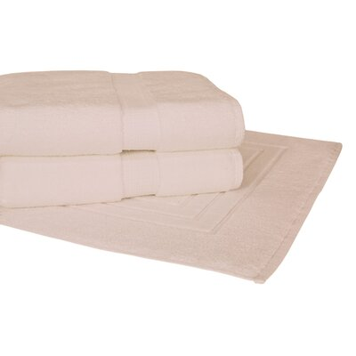 Bloomberg 3 Piece Towel Set Color: Ivory