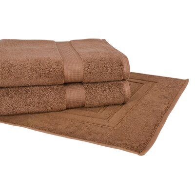 Bloomberg 3 Piece Towel Set Color: Cocoa