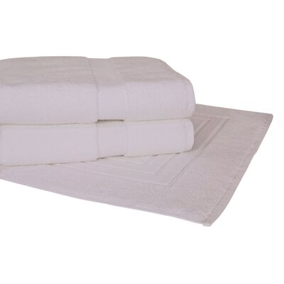 Bloomberg 3 Piece Towel Set Color: White