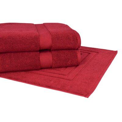 Bloomberg 3 Piece Towel Set Color: Cranberry