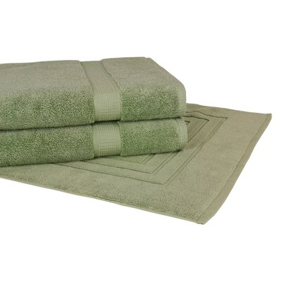 Bloomberg 3 Piece Towel Set Color: Sage