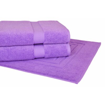 Bloomberg 3 Piece Towel Set Color: Lilac