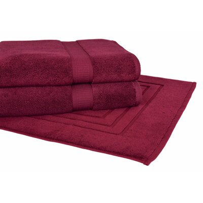 Bloomberg 3 Piece Towel Set Color: Burgundy