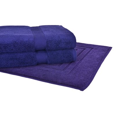Bloomberg 3 Piece Towel Set Color: Midnight Blue