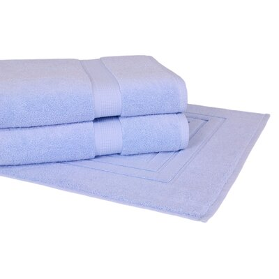 Bloomberg 3 Piece Towel Set Color: Sky Blue