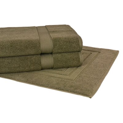 Bloomberg 3 Piece Towel Set Color: Moss Green