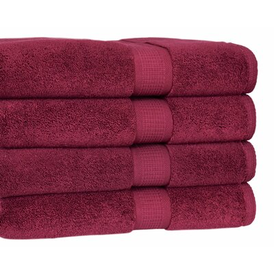 Bloomberg Bath Towel Color: Burgundy