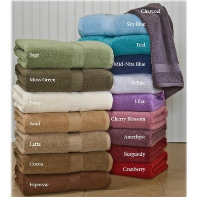 Bloomberg Bath Sheet Color: Charcoal