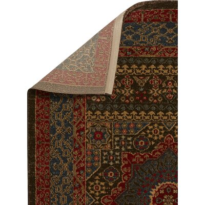Freetown Red Area Rug Rug Size: Rectangle 67 x 92