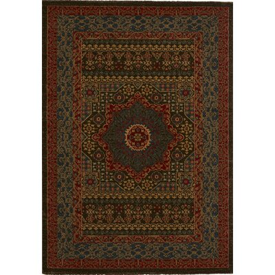 Alto Blue/Red Area Rug Rug Size: 4 x 57