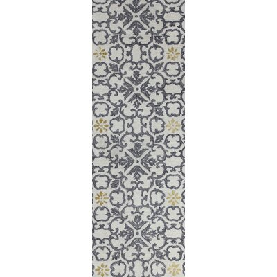 Danforth Hand-Tufted Ivory Area Rug Rug Size: Runner 26 x 8
